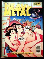 VINTAGE Heavy Metal Magazine March 1984 Jodorowsky Moebius Druillet Liberatore