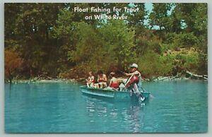 Northern Arkansas~Float Fishing On White River~Vintage Postcard