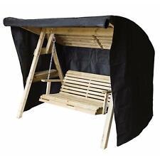 More details for heavy duty 600d oxford 3 seater waterproof swing seat hammock cover garden black