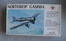 Vintage 1:72 Scale Williams Northrop Gamma Airplane Model Kit in Box 72-214