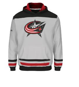 NHL Columbus Blue Jackets Hockey Hooded White Sweatshirt New Youth LARGE