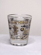 Las Vegas Nevada With 20 Different Casinos In Gold And Black Shot Glass