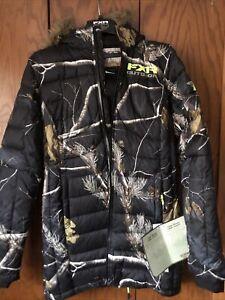 FXR Womens Fuze Down  Insulated Jacket AP Black/Camo Size 10