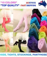 BABY GIRLS KIDS TIGHTS PANTYHOSE STOCKINGS LEG HOSIERY BALLET DANCE OPAQUE AUS