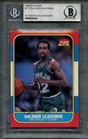 1986-87 fleer #11 ROLANDO BLACKMAN authentic autograph rookie card BGS AUTHENTIC