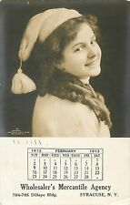 Wholesaler's Mercantile Agency, 704 Dillaye Bldg, Syracuse NY Calendar 1913 RPPC