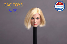❶IN STOCK❶ 1/6 scale Female Head Sculpt SHORT BLONDE hair for 12'' Phicen