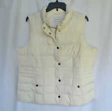 Charter Club Vintage Cream Women's Size XL Quilted Vest