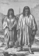 BOLIVIA. Antis Indians of Eastern Bolivia 1890 old antique print picture