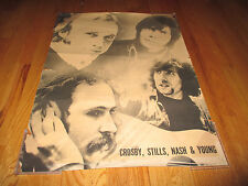 Vintage 60s David CROSBY, Stephen STILLS, Graham NASH & Neil YOUNG Poster