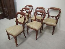 Set Of 6 Balloon Back Dining Chairs 2 Carvers Reproduction Victorian  Mahogany