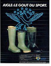 PUBLICITE ADVERTISING 027  1981   les bottes de chasse Aigle