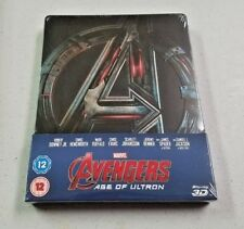 Avengers Age of Ultron UK 3D/2D Blu Ray Steelbook BRAND NEW Sealed
