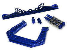 Integy Aluminum Billet Machined Front Shock Tower for Traxxas Nitro Rustler Blue