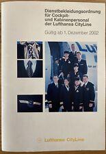 LUFTHANSA CITYLINE AIRLINES 2002 STEWARDESS UNIFORM GROOMING BROCHURE CABIN CREW