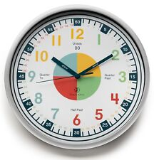 Teaching Clock with Silent Movement. Modern Educational Analogue Clock for Kids
