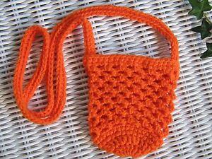 * Water Bottle/Mobile Phone Bag/Carrier/Holder *(600ml) * Orange * Aust HandMade
