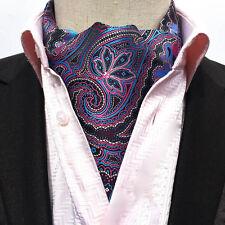 Men's Business Floral Paisley Long Scarves Cravat Ascot Neck Ties Gentleman