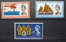 GB 1963 Lifeboat Phosphor (3) Fine/Used Cat £28 SALE PRICE BIN1923