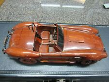 AC Cobra Wooden Model Car 13 inches in length Mahogany wood Shelby
