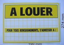 Panneau ,Adhésif ou à Visser Signalisation en PVC,,274 x 190 mm, A LOUER