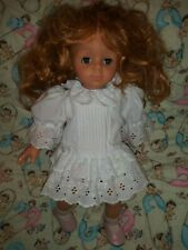 Vintage Gotz #7 Doll Red Hair Brown Eyes Gotz White Dress Vtg Pretty Girl