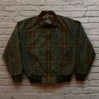 Vintage Polo Ralph Lauren Wax Cotton Plaid Jacket Size M 80s 90s RRL