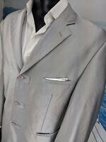 RockStar Shiny Silver Men's 46L Blazer Stage msrp $790