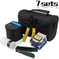 FC-6S FTTH Splice Fiber Optic Tool Kits Fibre Stripping Fiber Clea New