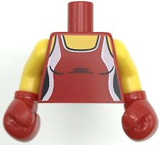Lego New Red Torso Female Outline Tank Top Red Boxing Gloves