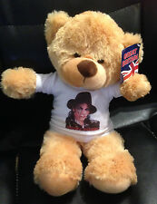 MICHAEL JACKSON 8 inch VERY CUDDLY TEDDY BEAR D3