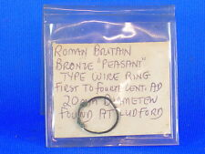 Ancient Roman Britain peasant bronze wire ring 20mm found at Ludford 1st -4th AD