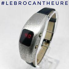Rare montre à Led Rouge montre vintage affichage Led circa 1970 Superbe état