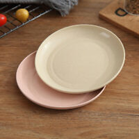 5pcs Wheat Straw Unbreakable Dinner Plates Party Meal Plates Kitchen Tray
