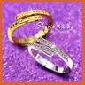 18K GOLD FILLED MINI PAVED DIAMONDS DAINTY stackable INFINITY BAND CUFF RING NEW