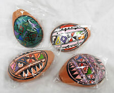 Peruvian Hand Painted Terracotta Ocarina - South America - NEW