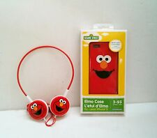 Brand New Sesame Street Elmo Silicone Case and Headphones Headset iPhone 5 / 5S