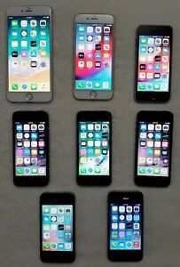 lot of phones, 6Plus,6,5S,5,4S,4