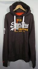 Cool Mens LARGE SIZE 2XL Superdry Vintage Logo Duo Hoodie Fig True Grit BNWT