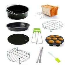 9pcs/set 6/7/8 Inches Air Fryer Accessories Kitchen Pizza Tray Grill Toast Rack