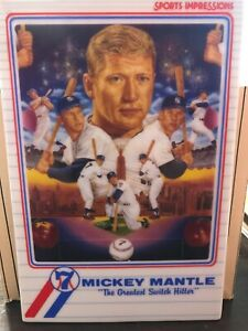 MICKEY MANTLE SPORTS IMPRESSION NUMBERED CERAMIC CARD