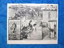 Sul Lago Maggiore nel 1898 - Le lavandaie Composizione di A. Ferraguti