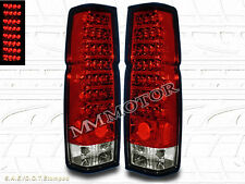 FIT 1986-1997 NISSAN HARDBODY PICKUP RED CLEAR LED TAIL LIGHTS 87 88 90 91 92 94