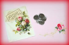 VICTORIAN GREETINGS *NEW* SET OF 5 CHRISTMAS CARDS, ENVELOPES & METAL TOKENS