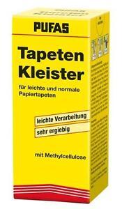 10x Pufas Tapeten Kleister Normalkleister 125g für leichte normale Papiertapeten