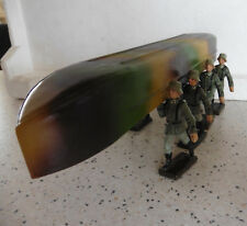 Elastolin Lineol tin pontoon wehrmacht with carry soldiers Wwii