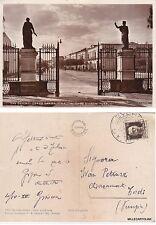# SAN SEVERO: CORSO GARIBALDI DALL'INTERNO GIARDINI PUBBLICI   1937