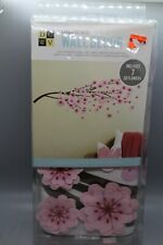 3D Pink Flower Tree Wall Stickers Decal Home Living Room Decor NIB