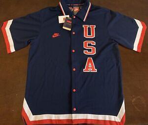 Rare Vintage Nike 1984 USA Basketball Legends Patrick Ewing Warm Up Jersey