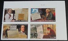 4021-24 Benjamin Franklin Plate Block Mint/nh (Free shipping offer)